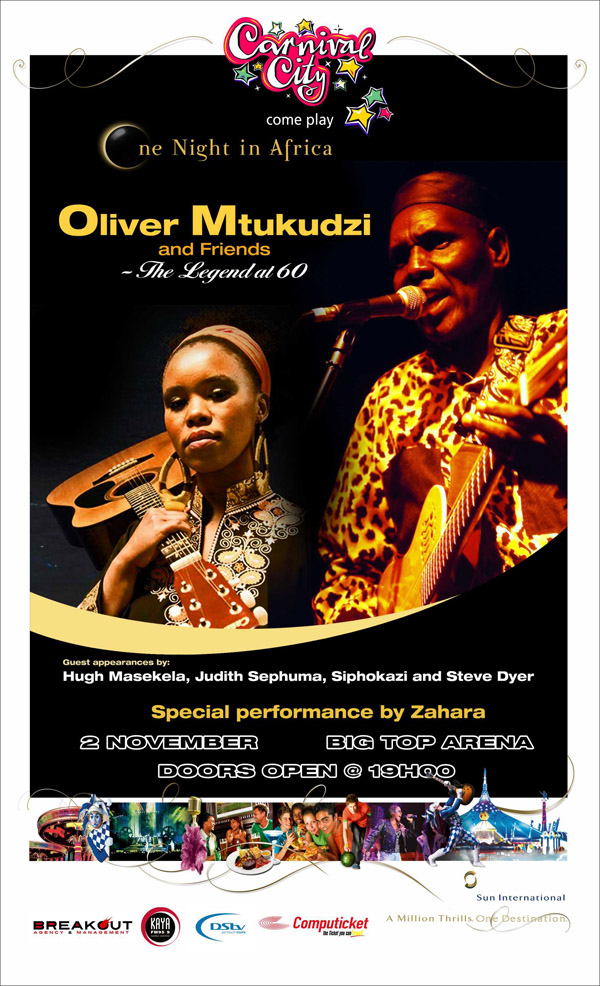 One Night in Africa – Oliver Mtukudzi and Friends